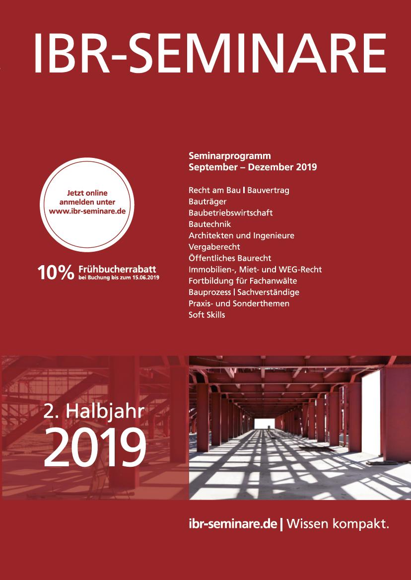 2. Halbjahr 2019 | id Verlags GmbH | Mannheim
